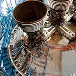 third stage engine and top of second stage