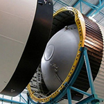 third stage and command module conecttion of a Saturn V rocket